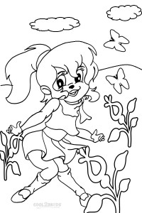 Printable chipettes coloring pages for kids cool2bkids for Alvin and the chipettes coloring pages