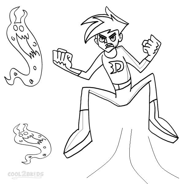 Printable Danny Phantom Coloring Pages For Kids Cool2bkids