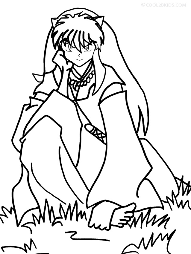 Printable Inuyasha Coloring Pages