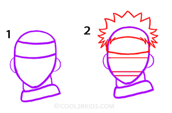 How To Draw Naruto Step By Step Pictures Cool2bkids
