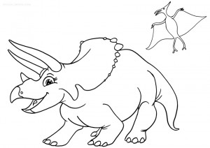 coloring pages dinosaurs triceratops baby - photo#13