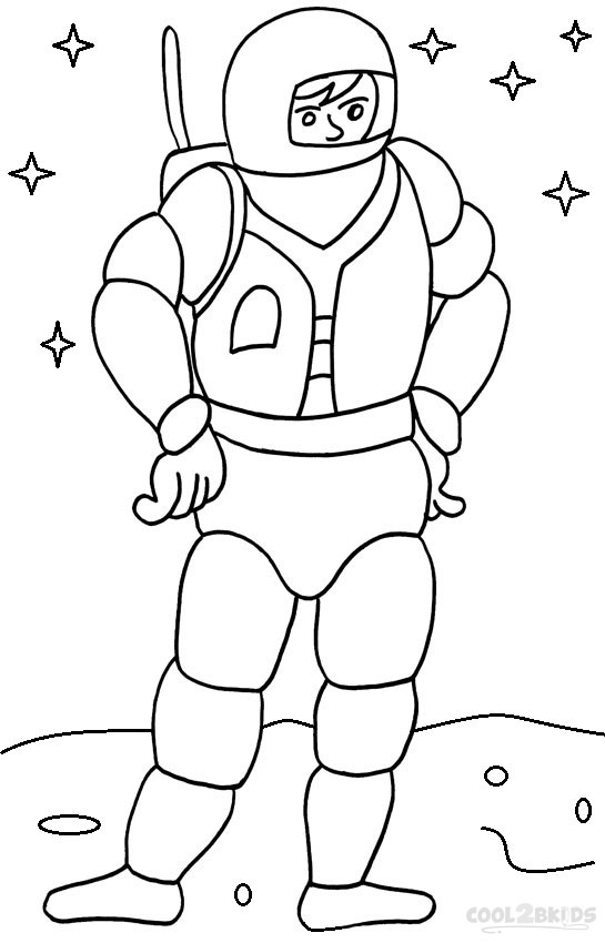 astronauts coloring pages for kids - photo#34