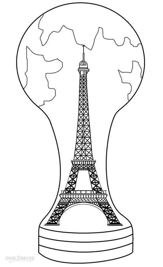 eiffel tower colorin - France Eiffel Tower Coloring Page