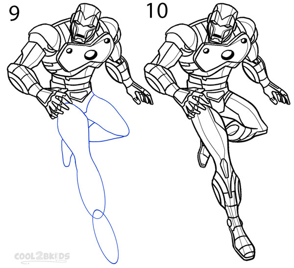 How To Draw Iron Man Step By Step Pictures Cool2bkids
