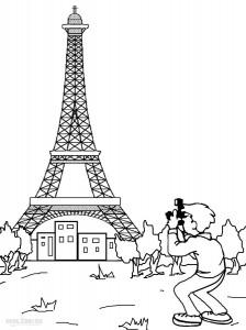 Printable Eiffel Tower Coloring