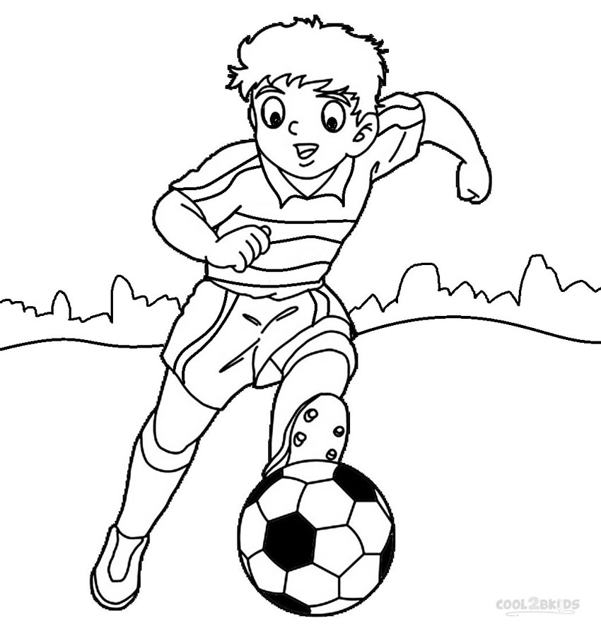 free coloring pages football player - photo#13