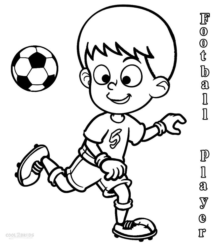 Printable Football Player Coloring