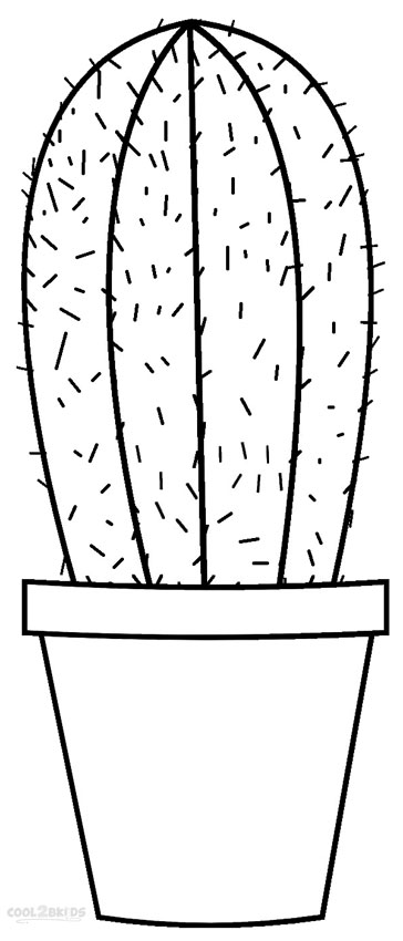 printable cactus coloring pages for kids