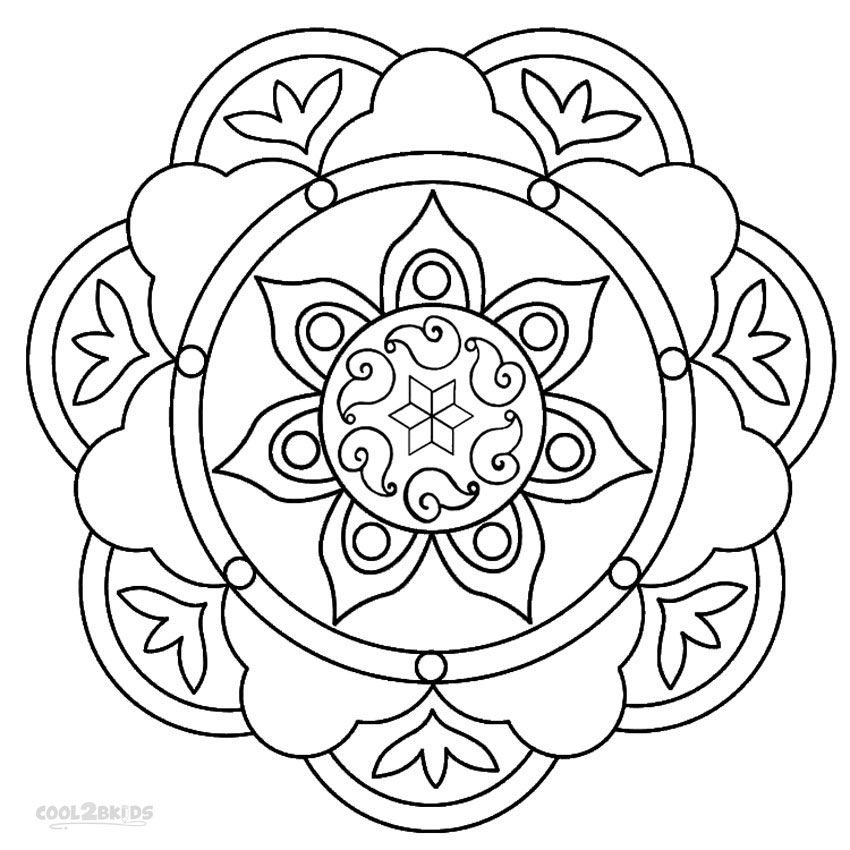 Coloring Pages: Printable Rangoli Coloring Pages For Kids