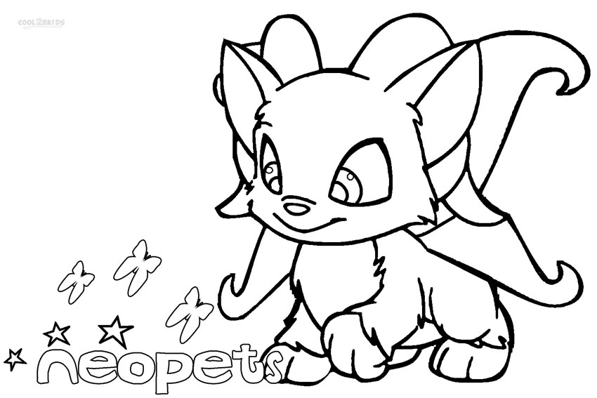 neopets print out coloring pages - photo#19