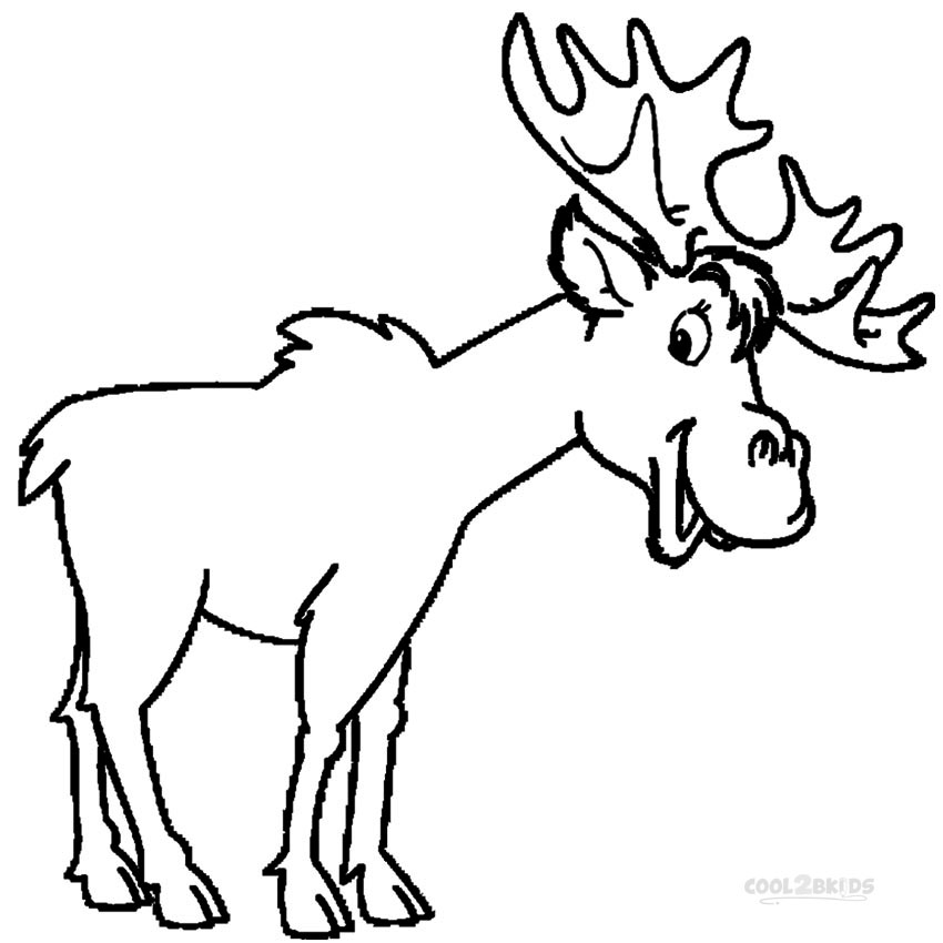 moose coloring pages printable printable moose coloring pages for kids cool2bkids