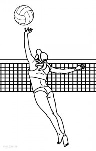 printable volleyball coloring pages - photo#17