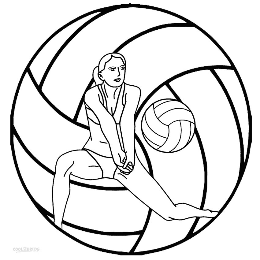 Printable Volleyball Coloring Pages