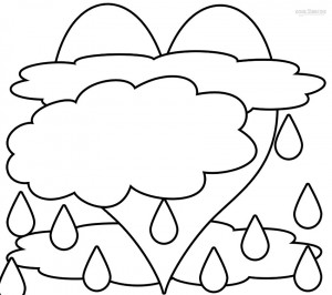 cloud shapes coloring pages - photo#17