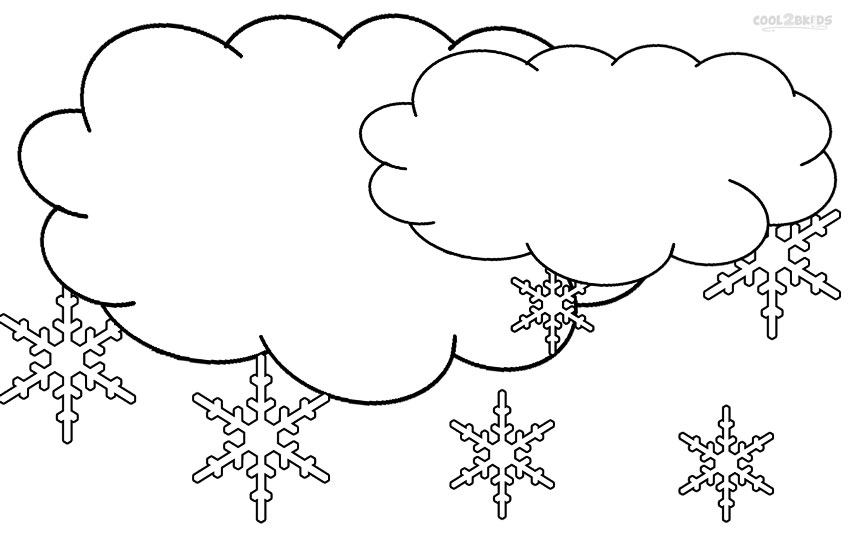 Printable Cloud Coloring Pages For Kids