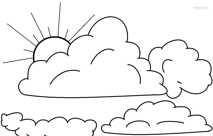 cloudy weather coloring pages - photo#2