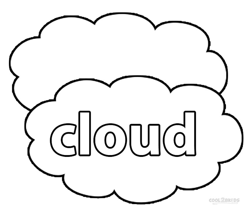 Printable Cloud Coloring Pages