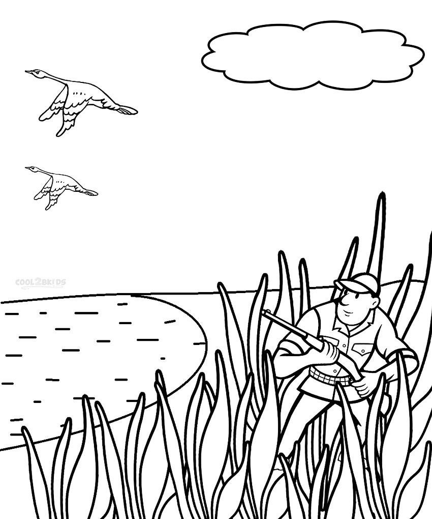 free printable hunting coloring pages photo19 - Hunting Coloring Pages