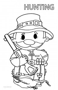 free duck hunting coloring pages - photo#42