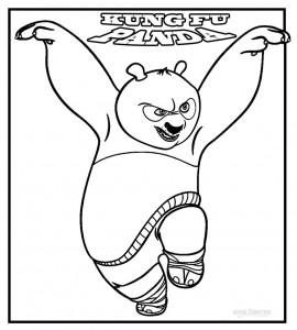 Printable Kung Fu Panda Coloring