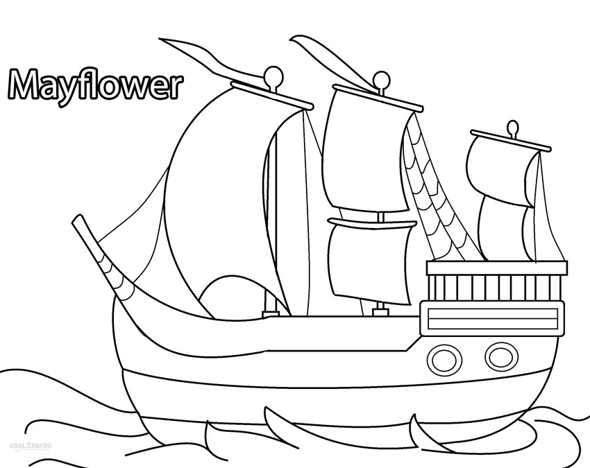 mayflower coloring pages for preschool - photo#12
