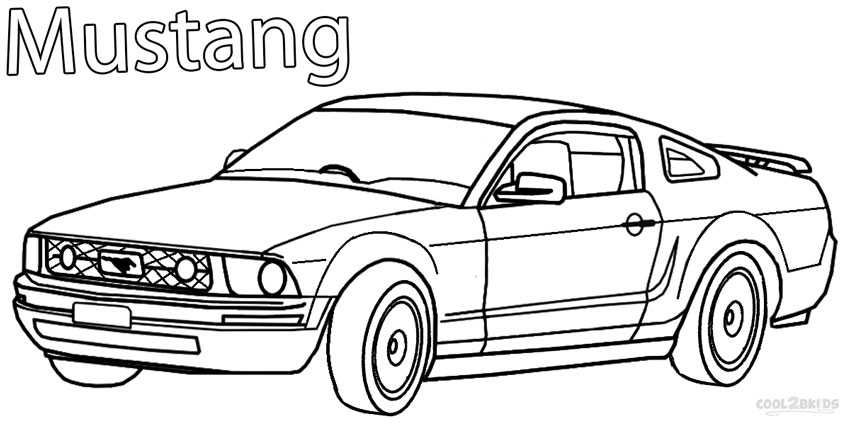 mustang coloring pages for kids - photo#6