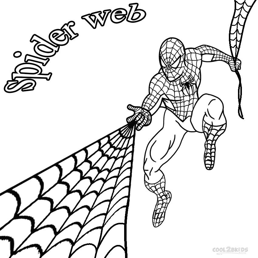 spiderman web warrior coloring pages - photo#27
