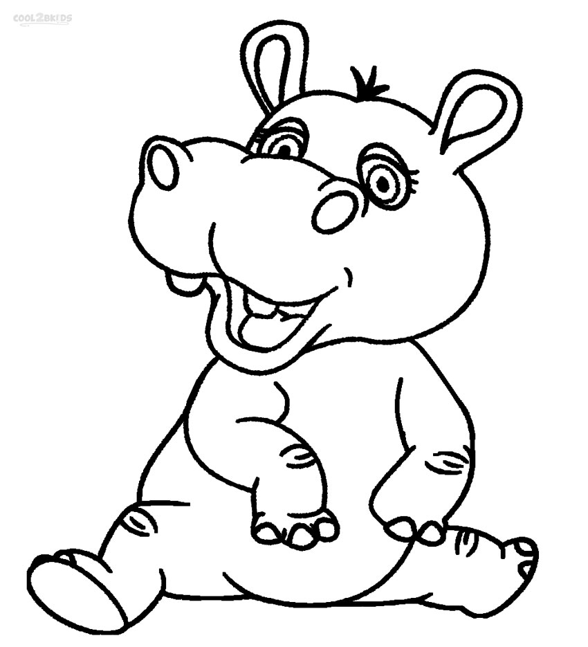 hippo coloring pages | Printable Hippo Coloring Pages For Kids | Cool2bKids