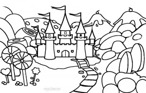 candyland castle coloring pages free - photo#1