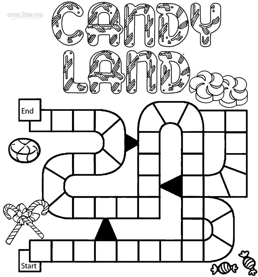 Drawing And Coloring Games Free Online Printable Candyland Coloring Pages For Kids