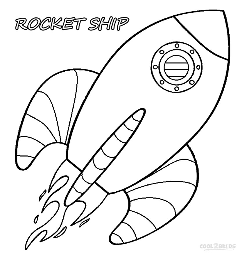 rocketship coloring pages - photo#3