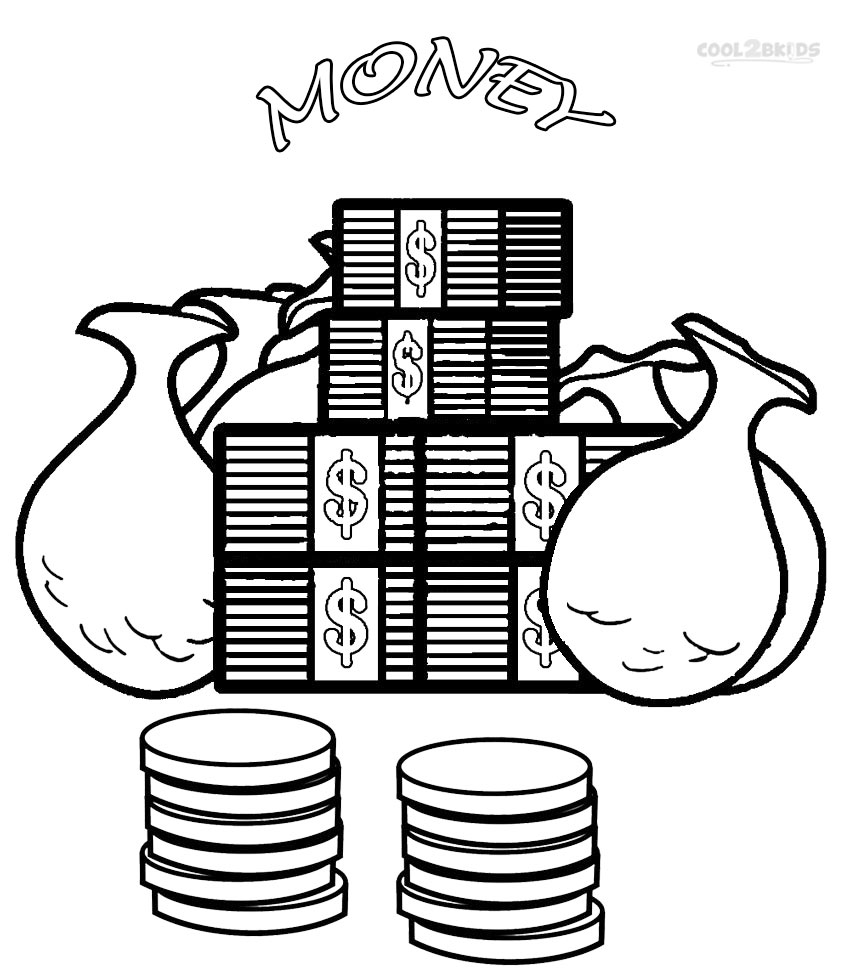 Printable Money Coloring Pages For Kids | Cool2bKids