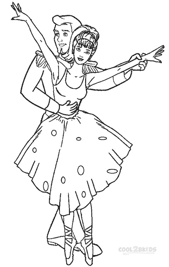 Printable nutcracker coloring pages for kids cool2bkids for Barbie ballerina coloring pages