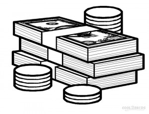 Printable money coloring pages for kids cool2bkids for Play money coloring pages