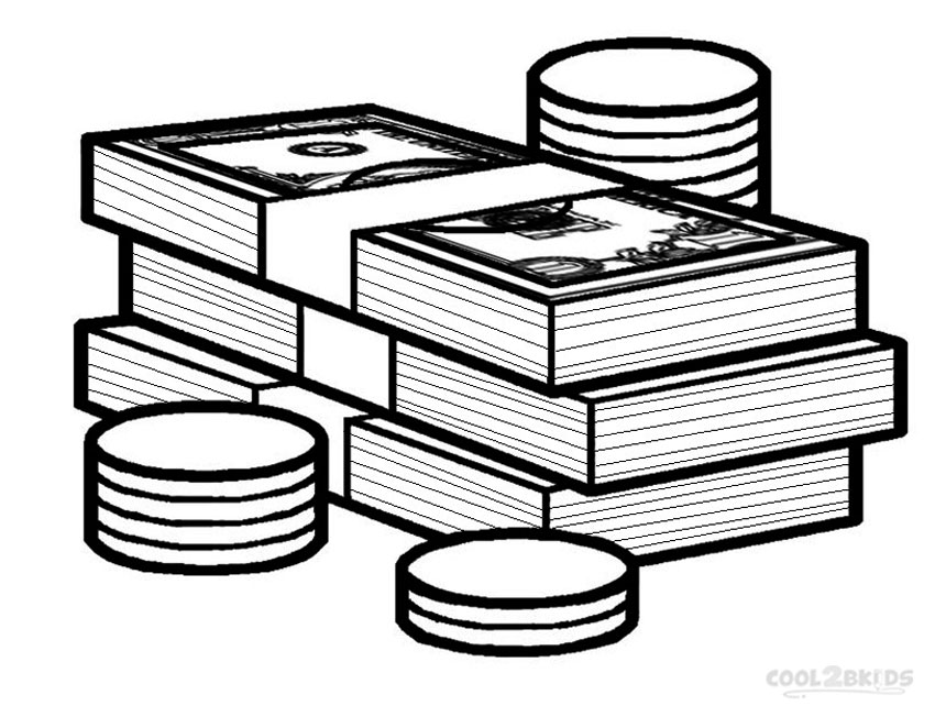 coins coloring pages - photo#33
