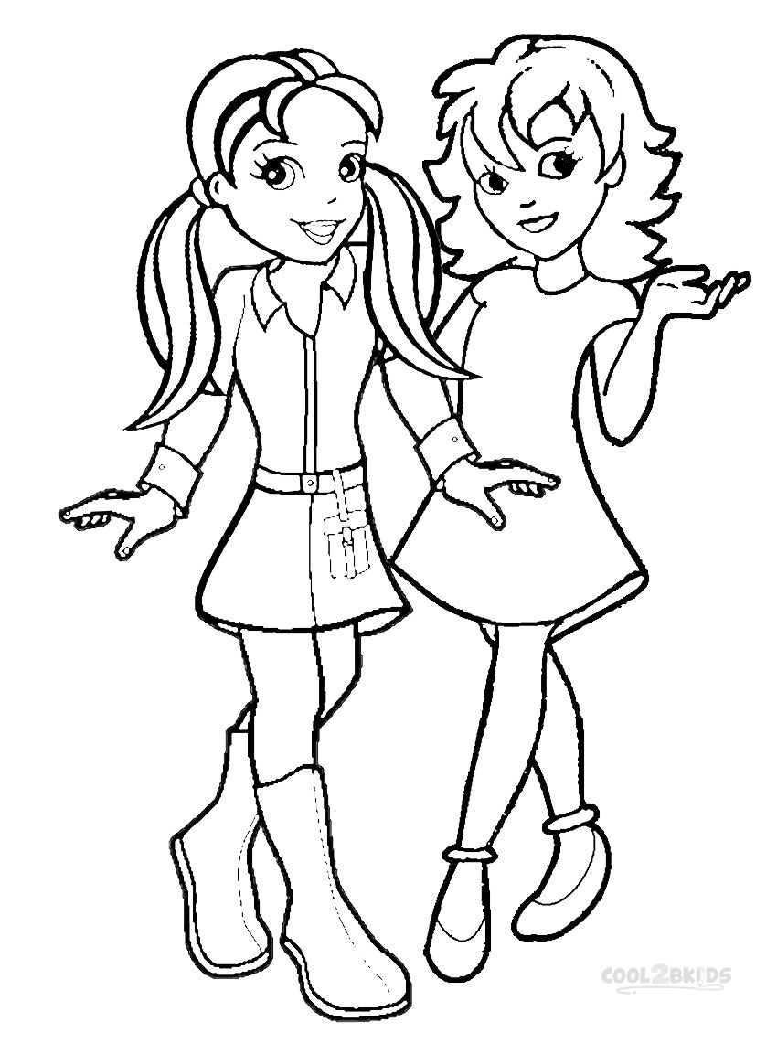 polly pocket coloring pages games - photo#9