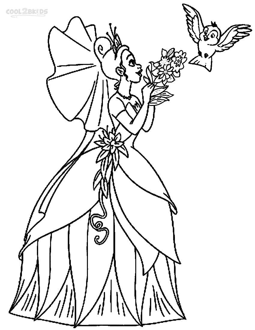 Coloring Pages Princess Tiana : Printable princess tiana coloring pages for kids cool bkids