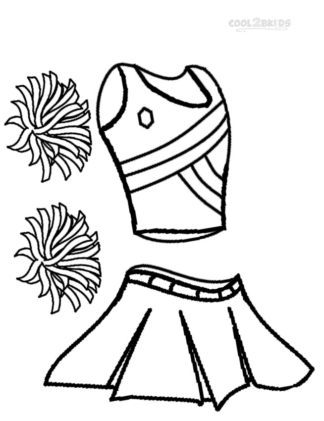 Printable Cheerleading Coloring Pages For Kids Cool2bkids Cheer Coloring Pages