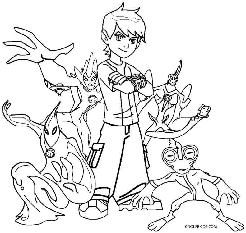 Free Coloring Pages Of Ben10 Four Arms