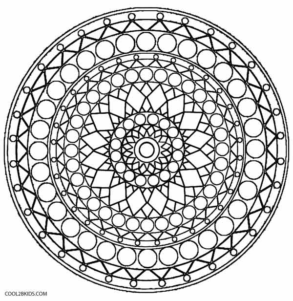 free kalediscope coloring pages - photo#5