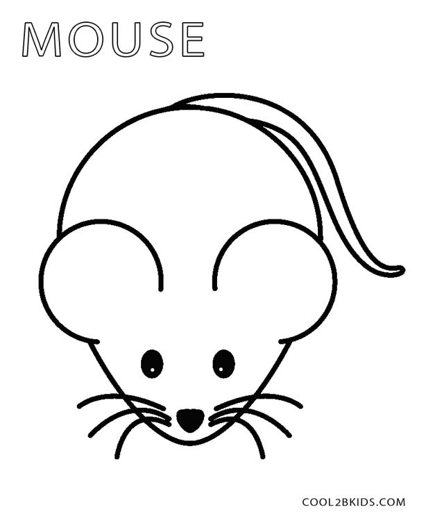 Printable mouse coloring pages for kids cool2bkids for Coloring page of a mouse