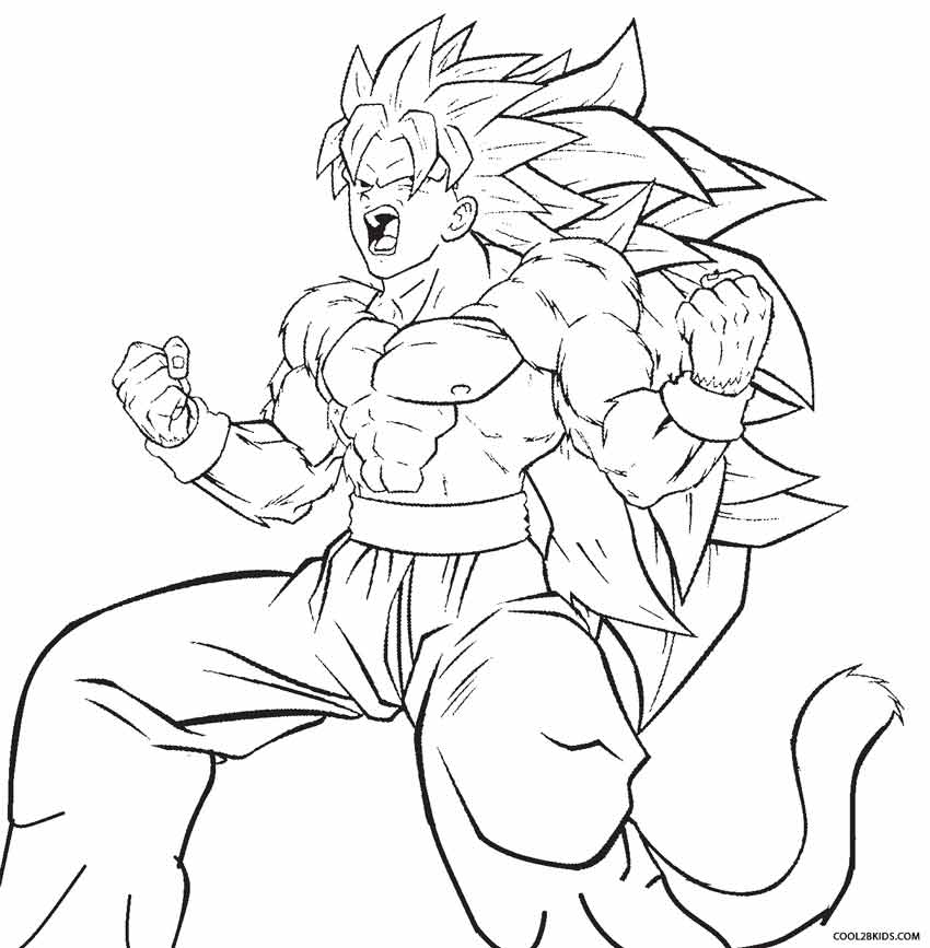 Goku coloring page coloring pages for Dbz coloring pages online