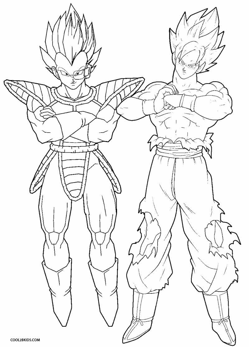 dragon bal z coloring pages - photo#33