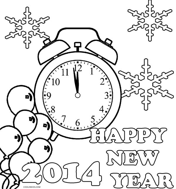 free happy new year coloring pages - printable new years coloring pages for kids cool2bkids