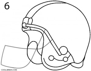 How to Draw a Football Helmet (Step by Step Pictures ...