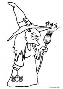 children coloring pages to print and color | Printable Witch Coloring Pages For Kids | Cool2bKids