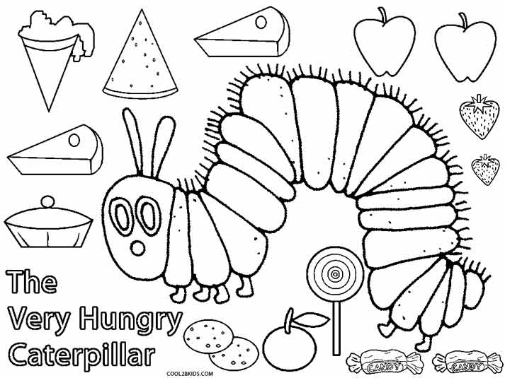 hungry caterpillar coloring pages - photo#3