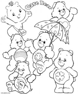 care bear coloring pages with numbers | Printable Care Bears Coloring Pages For Kids | Cool2bKids