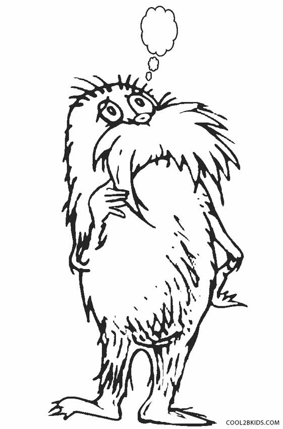 lorax coloring book pages - photo#8