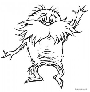 It is a picture of Old Fashioned Lorax Coloring Page